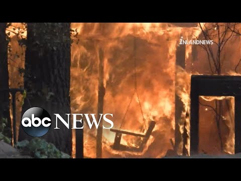 Southern California fire threatens hundreds of homes