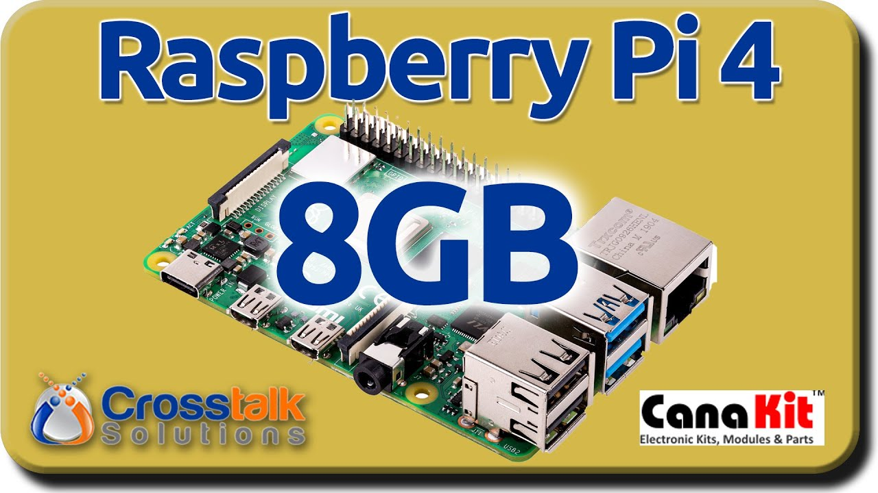 Raspberry Pi 4 - 8GB Canakits
