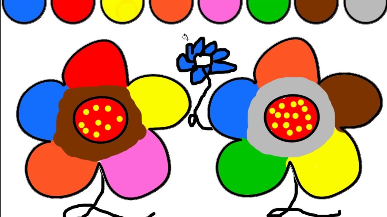 Renkleri Ogreniyorum Cocuklara Cicek Boyama Oyun Hamuru Evi