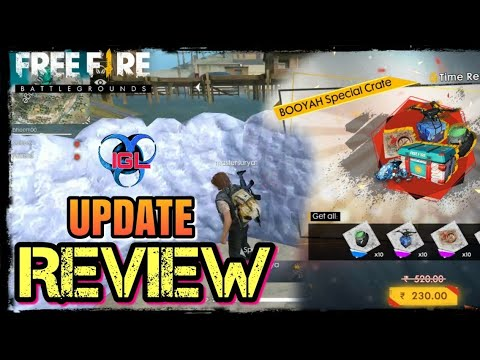 FREEFIRE BG UPDATE REVIEW|| GLOO WALL PROTECTION, PERSONAL CHAT, BOOYAH CRATE, LEADERBOARD & MUCH MO