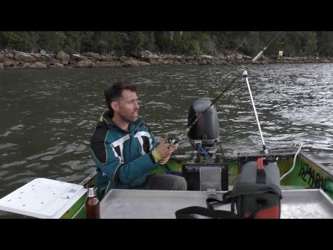 Setting up the Green Machine for fishing