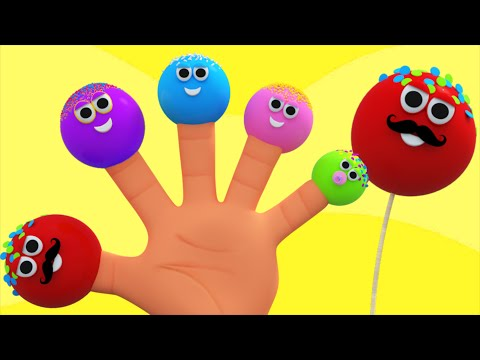 Cake Pops Finger Family | Nursery Rhymes For Kids And Childrens | 3D Rhymes