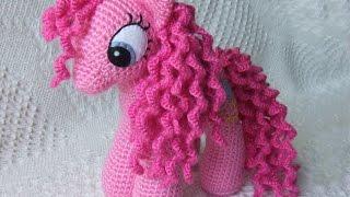 Амигуруми: схема Розовой пони. Игрушки вязаные крючком! Free crochet patterns.
