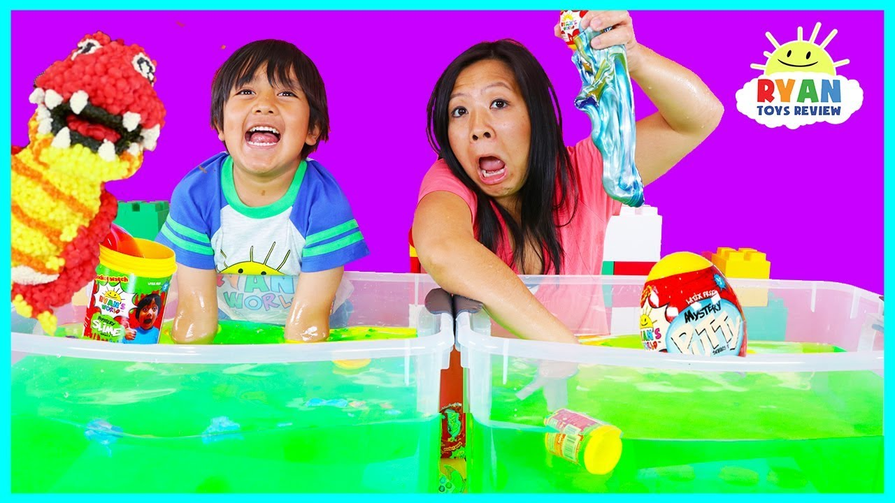 Ryan's World Slime Baff Surprise Toys Challenge game | Mystery Slime , Mystery Putty, Molekule!