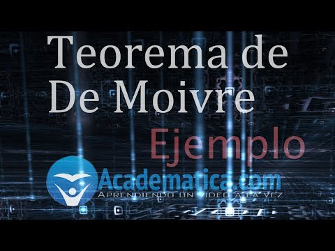Teorema de De Moivre ejemplo