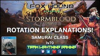 FFXIV Stormblood: SAM Lvl. 70 Rotation Explanations - Fox Hound