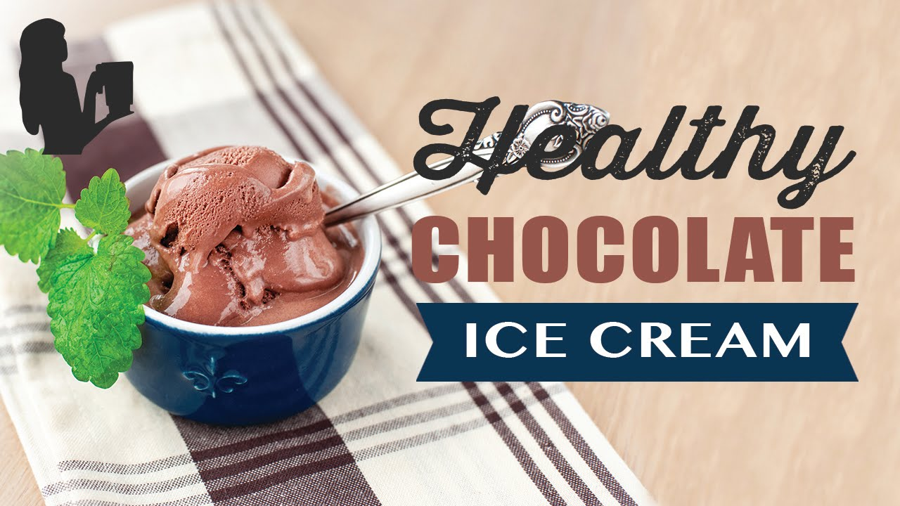 Healthy Chocolate Ice Cream Recipe Made Using A Vitamix Or Blendtec Commercial Blender Youtube