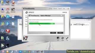 How to update K7 Antivirus using Proxy settings