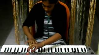 old hindi song aaja sanam madhur chandini mein hum from chori chori on keyboard  by s.mythily