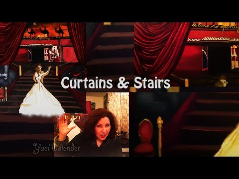 OIL PAINTING Stairs & Curtains: Mark Hollis' Theatrical Tomorrow Started