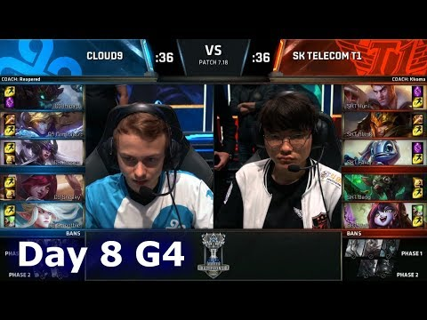 Cloud 9 vs SK Telecom T1 | Day 8 Main Group Stage S7 LoL Worlds 2017 | C9 vs SKT G2