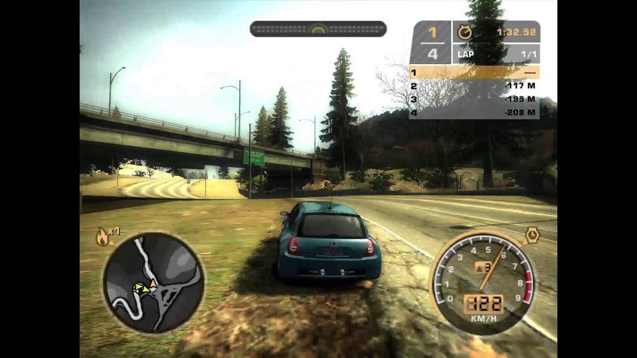 nfs most wanted renault clio v6 youtube