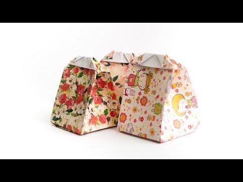 การพับกระดาษเป็นถุงของขวัญแบบไม่ใช้กาว Origami Gift Bag