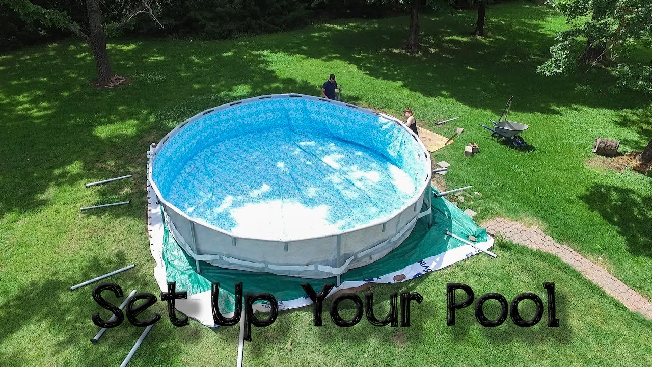 Setting Up Your Steel Frame Above Ground Pool Intex