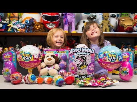 Thumbnail: HUGE Pikmi Pops Hatchimals Surprizamals Surprise Eggs Toy Opening Toys for Girls Kinder Playtime