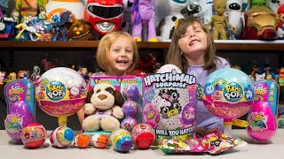 HUGE Pikmi Pops Hatchimals Surprizamals Surprise Eggs Toy Opening Toys for Girls Kinder Playtime