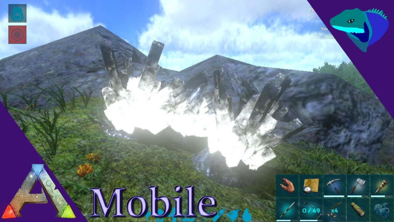 HOW TO FIND CRYSTAL AND OVERVIEW OF METAL TOOLS! Ark: Mobile Beginner's  Guide Episode 5