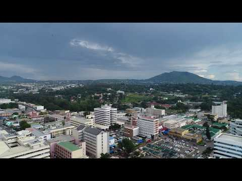 A flight over downtown Blantyre, Malawi