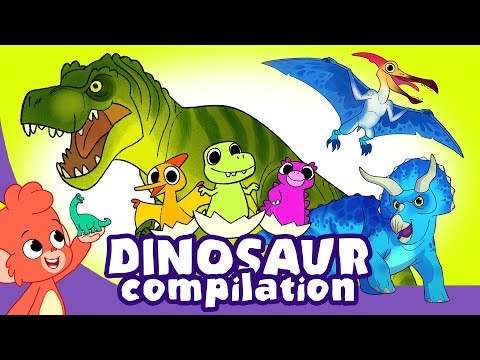Learn Dinosaurs for Kids   Scary Dinosaur movie Compilation   Triceratops T-Rex   Club Baboo