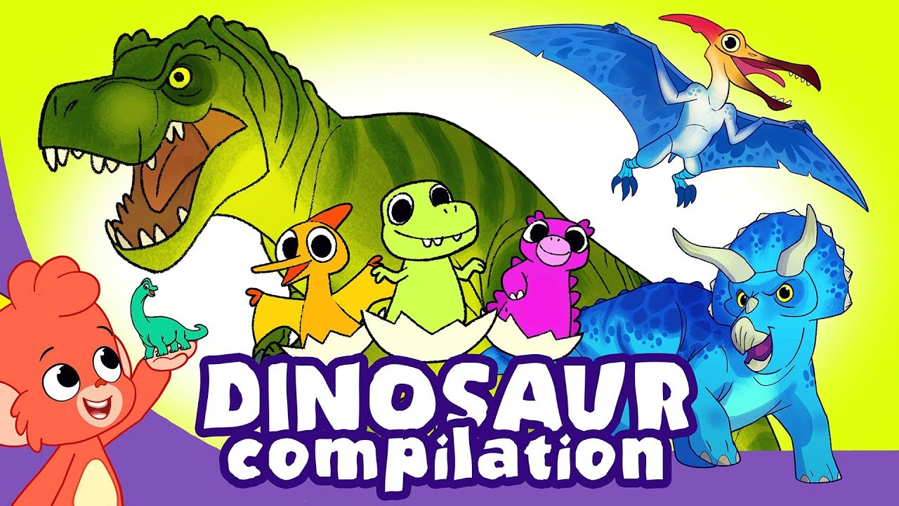 Learn Dinosaurs for Kids | Scary Dinosaur movie Compilation | Triceratops T-Rex | Club Baboo