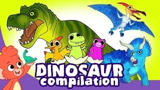 Learn Dinosaurs for Kids | Scary Dinosaur Cartoon Compilation A 30 ...