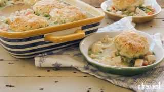 Chicken Recipes - How To Make Chicken And Biscuit Casserole