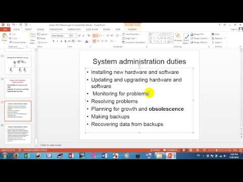 System administration responsibilities