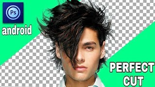 PERFECT CUT OUT HAIR IN PS TOUCH ANDROID APPLICATION