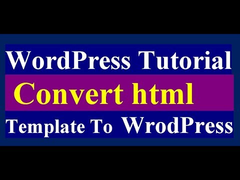 Converting HTML Template to Wordpress Theme part: 02 - YouTube