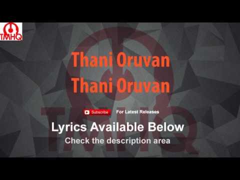 Thani Oruvan Karaoke with Lyrics Thani Oruvan
