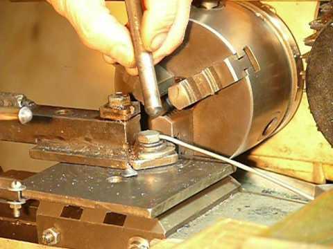Завальцовка края трубки на токарном станке