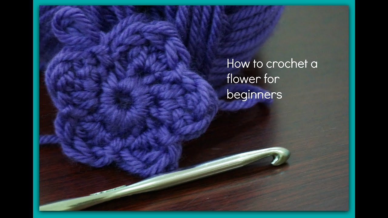 How To Crochet For Beginners : How to crochet a flower for beginners - YouTube