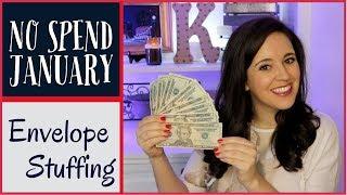 NO SPEND JANUARY ENVELOPE STUFFING - Money Saving Challenge 2018 - Episode 1