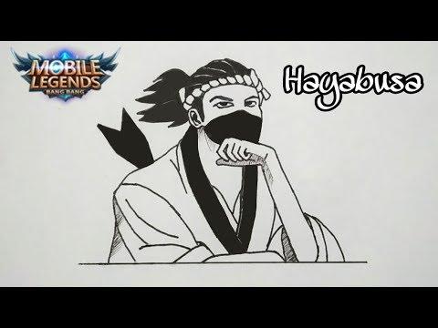 Cara Menggambar Hayabusa Skin Sushi Master Mobile Legends How To