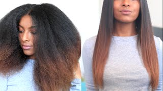 How I Straighten & Trim My Natural Hair | naturalneiicey thumbnail