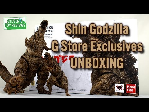 S.H. MonsterArts Shin Godzilla G Store Exclusives Unboxing