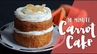 10 Minute Carrot Cake Mug Cake - Made In The Microwave! Ep. 3