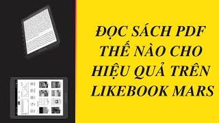 Cách đọc sách pdf hiệu quả trên máy đọc sách likebook mars