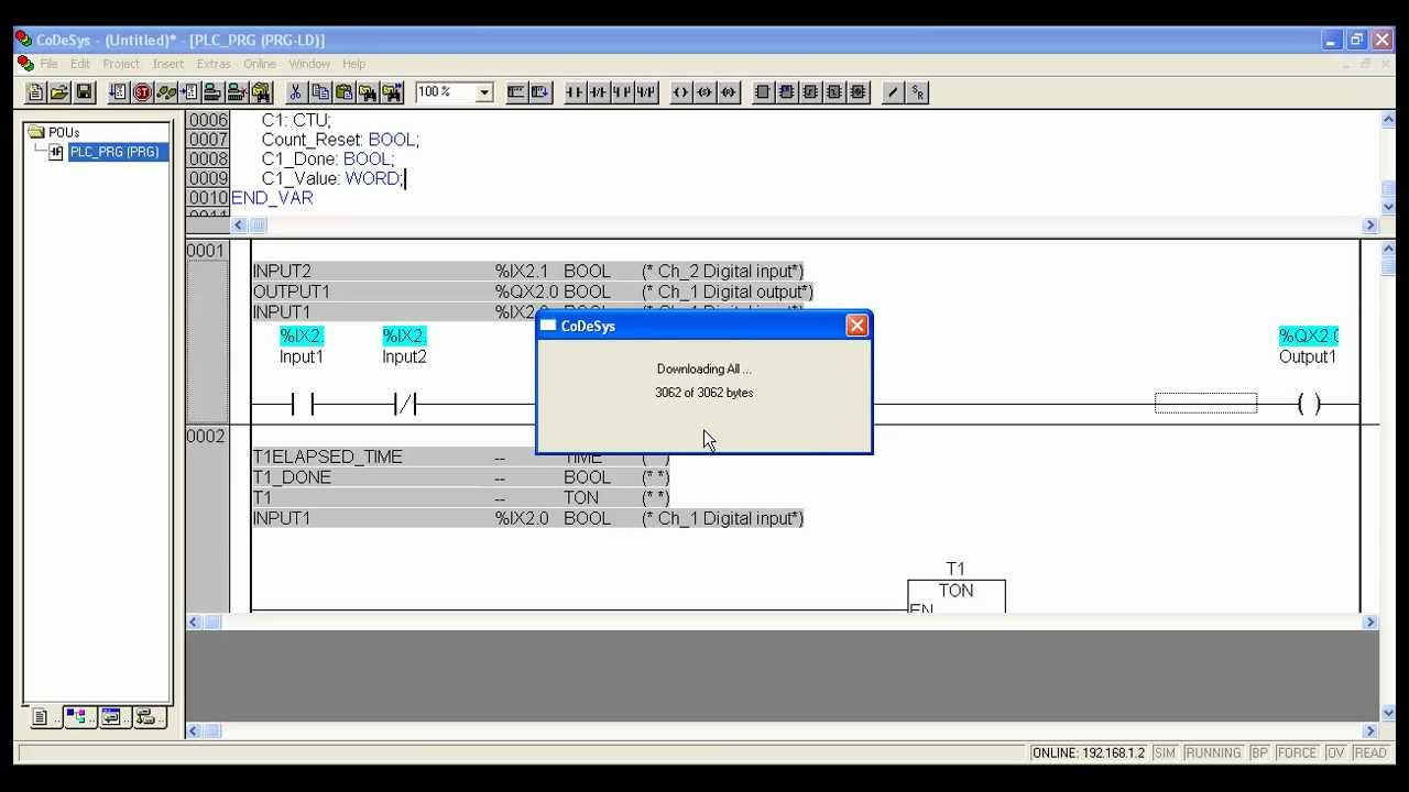 Quick Start Guide For Wago I O Pro Caa Programming Softwareladder Ladder Logic Diagram Example Youtube
