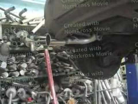 Mazda 3, разводка труб,установка одинарных насадок.
