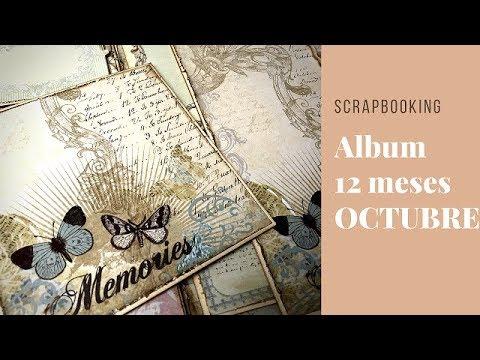 TUTORIAL SCRAPBOOKING  ALBUM DOCE MESES y PRÓXIMO SORTEO 30K!!