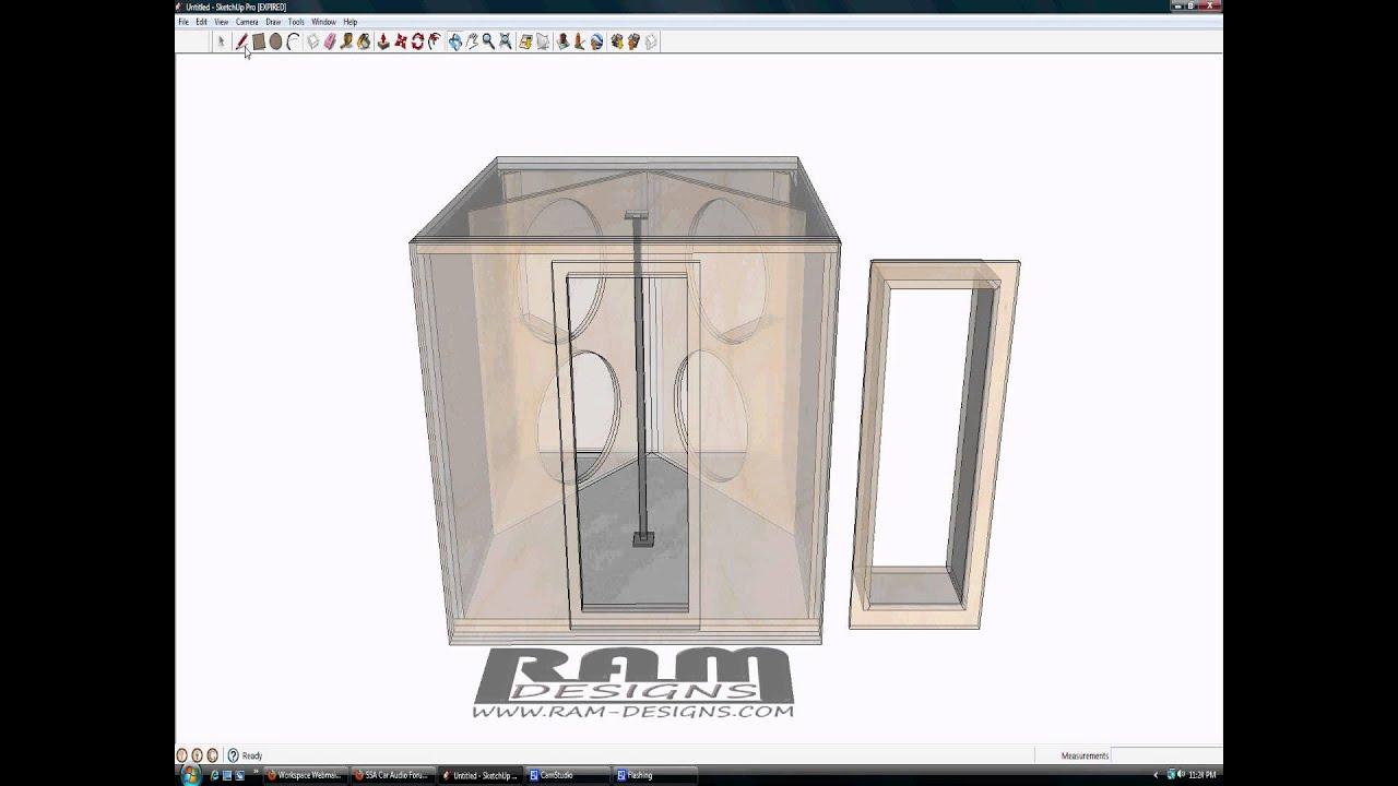 ram designs dubstep bandpass box design dc audio 18s youtube