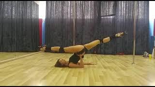 Видео-урок: продольный шпагат на руке (pole-dance, стрип-пластика) Марина Эргле