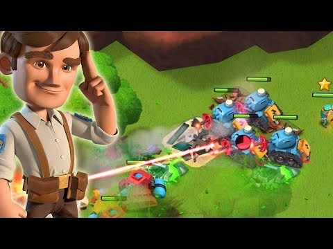 Boom Beach Scorcher and Lazortron Strategy Takes on Dr. T!!