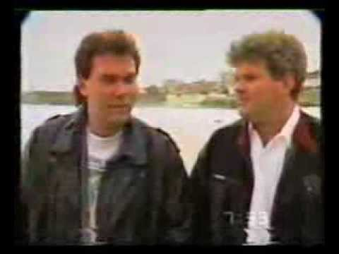 Marc and Todd Hunter Interview with Larry Emdur Talking About Bondi Road - 1989