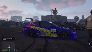 Gta 5 online (Tokyo Drift Car Meet) | parking lot drifting | Drift King