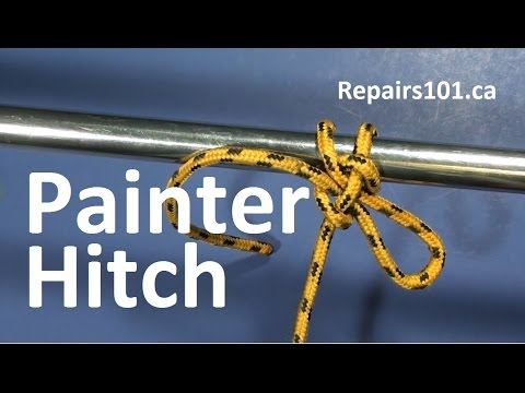 Painter Hitch – The best knot for lines, leashes & leads requiring quick release!