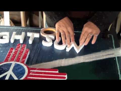 cutting out letters by hand from foam youtube