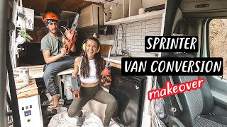 TINY HOUSE RENOVATIONS after 2 years LIVING IN A VAN | Eamon & Bec
