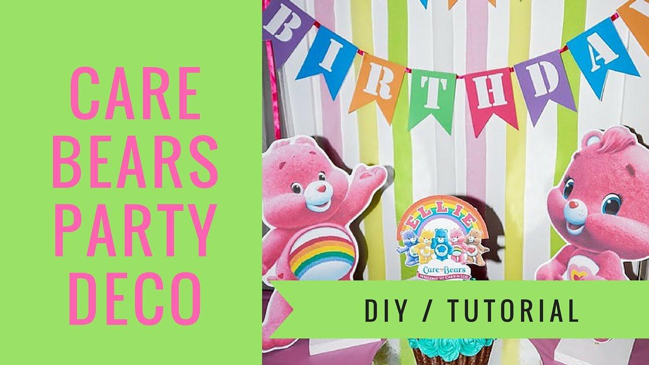 Care bears table decorations how to make diy youtube monicamarmolfo Choice Image